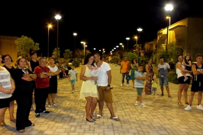 Musicisti che organizzano la serenata a Cursi in provincia di Lecce