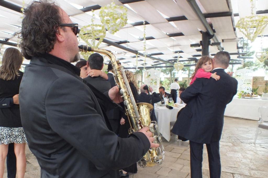 Sassofonista per la musica del matrimonio a Lecce e provincia