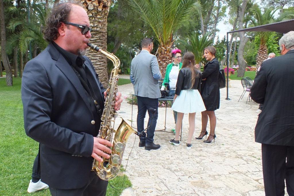 Matrimonio in Provincia di Lecce a Castello Monaci con il sax del gruppo di Paolo e Dalila Live