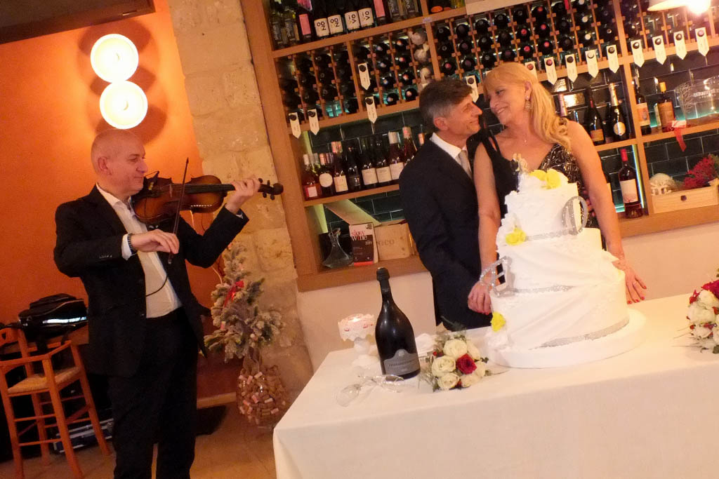 Violinista taglio torta matrimonio
