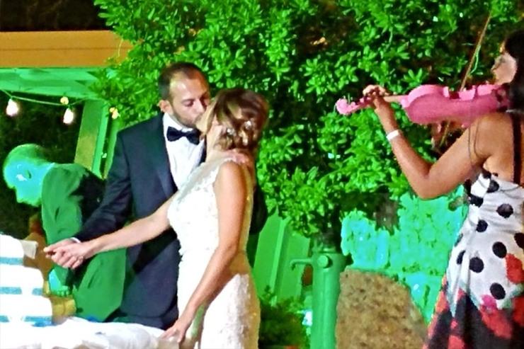 musica per il taglio della torta al matrimonio con il violinista