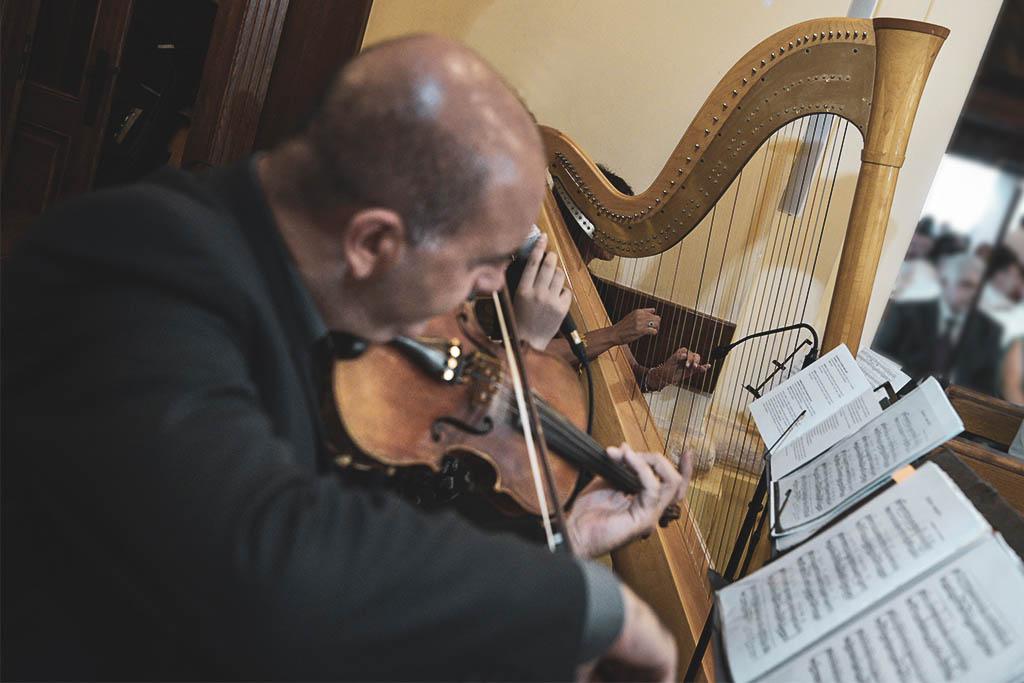 musica per la cerimonia di matrimonio con arpa e violino