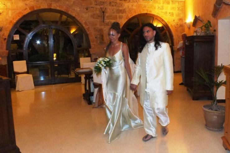 Sposi presso la sala ricevimenti Aia Nova a Tricase