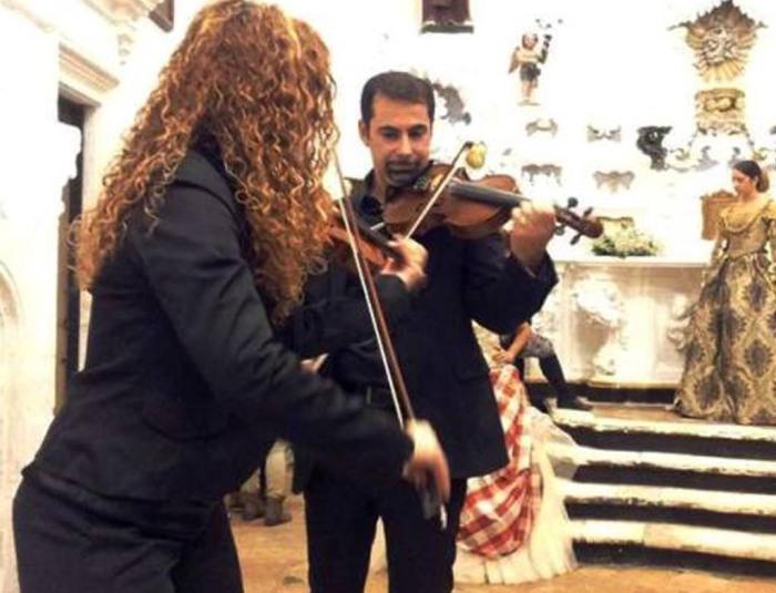violinista per la musica chiesa matrimonio Brindisi