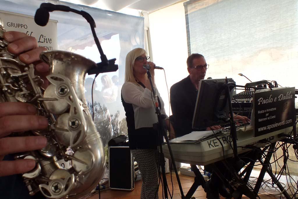 Paolo e Dalila band con sax musica matrimoni Lecce
