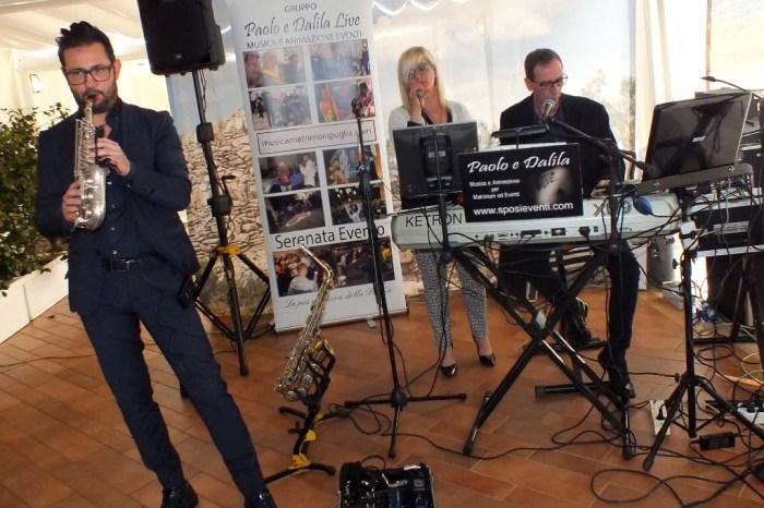 Paolo Dalila musica matrimonio Lecce con sax