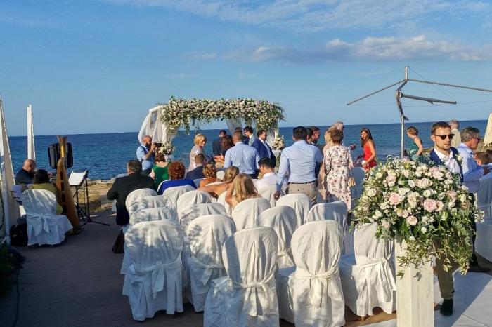 Cerimonia civile matrimonio sul mare Brindisi