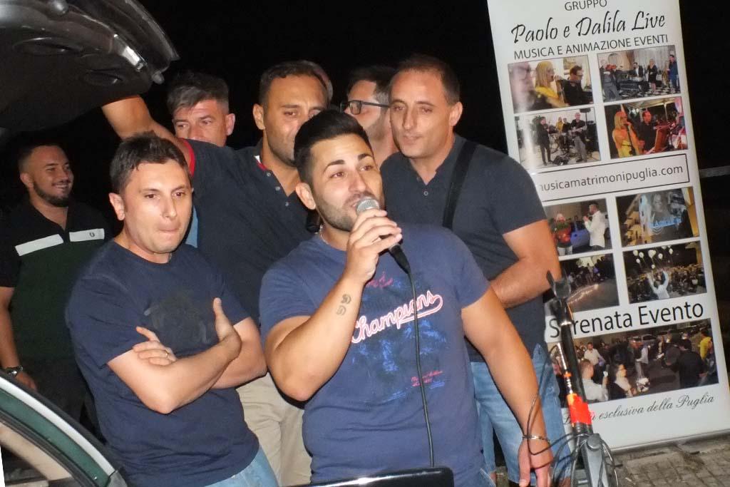 Paolo e Dalila Live durante la serenata in Calabria