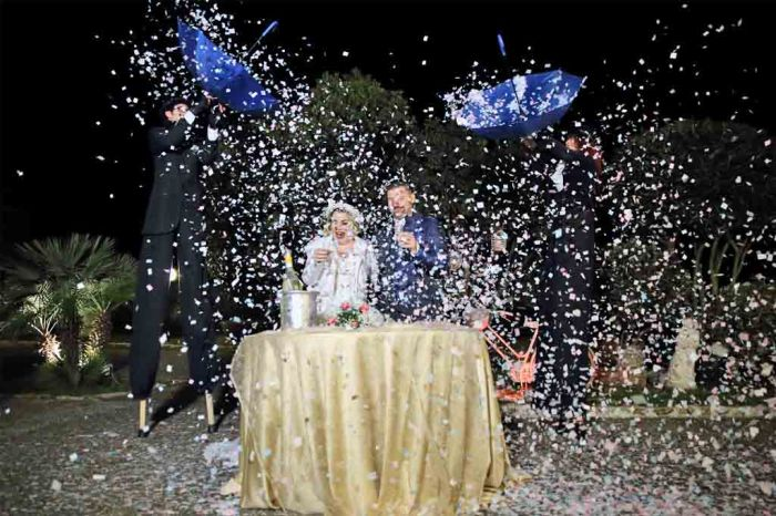 Trampolieri spettacolo matrimonio Puglia