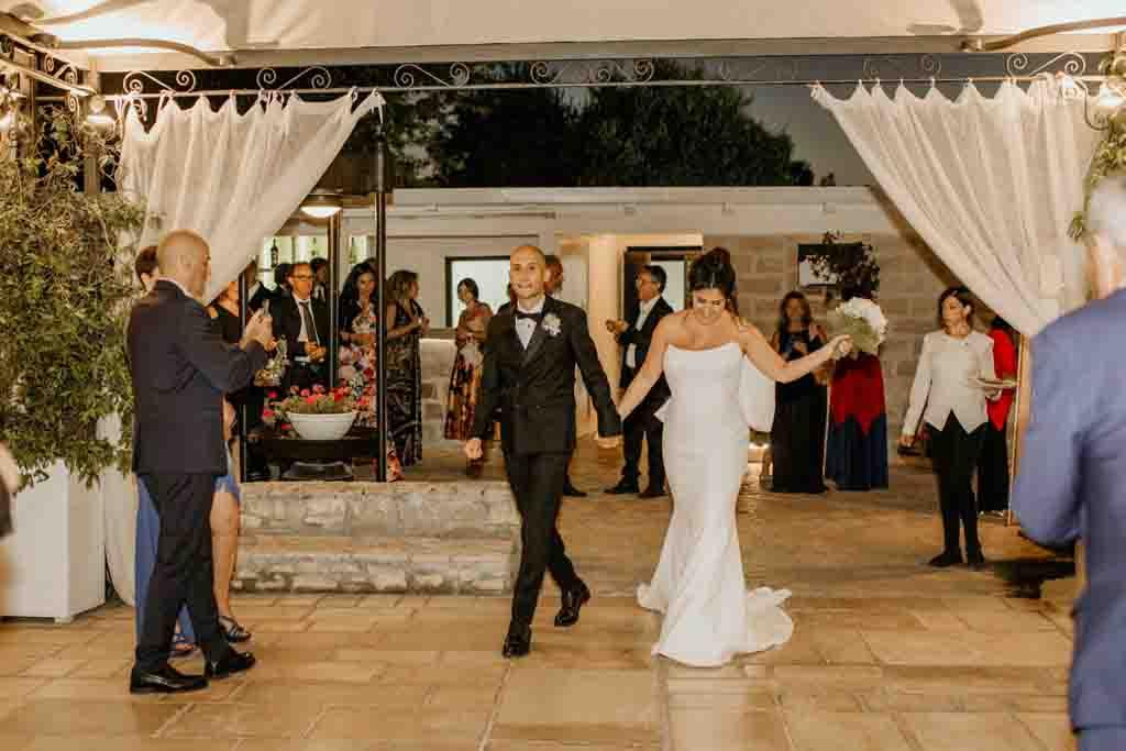 Ingresso sposi Masseria Montalbano