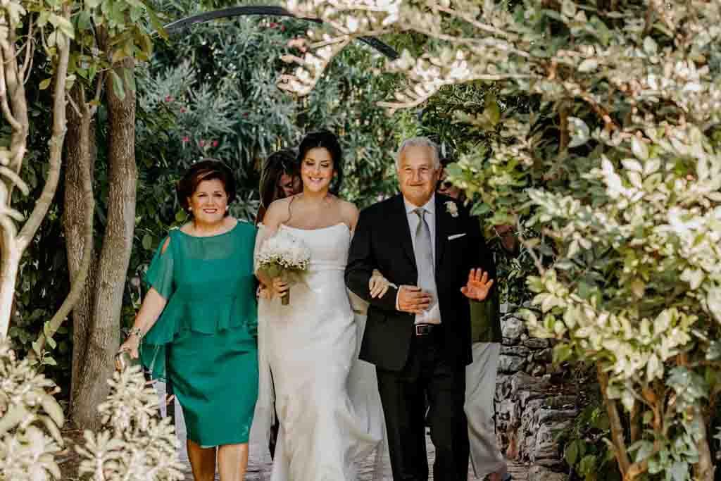 Masseria Montalbano arrivo sposa cerimonia