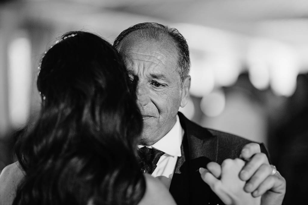Ballo sposa Papa matrimonio Villa Vergine