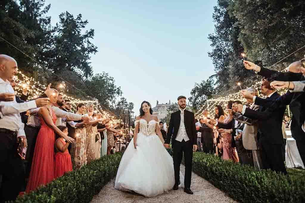Villa Vergine Cutrofiano Arrivo sposi