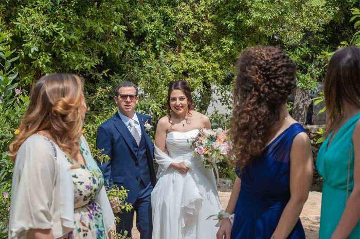 Arrivo sposa cerimonia Cala dei Balcani