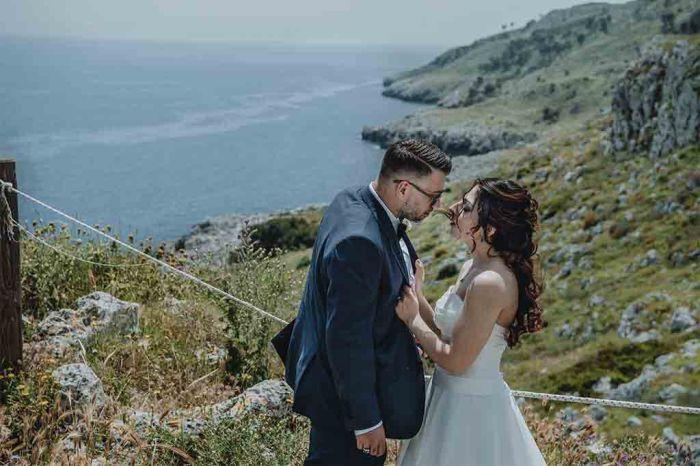Foto sposi matrimonio Santa Cesarea Terme