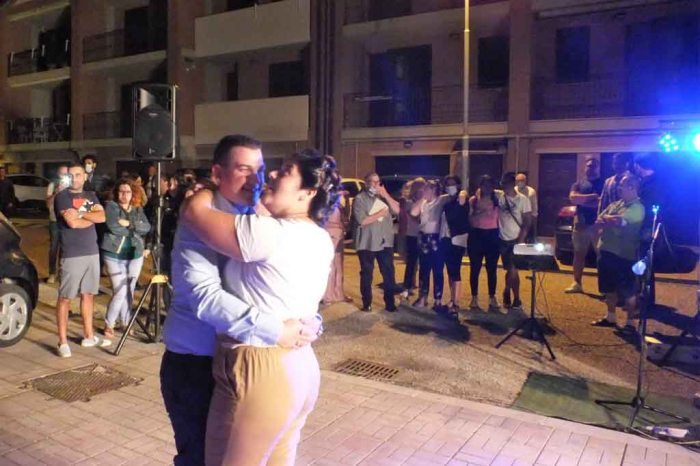 Serenata organizzata dalla sposo a Foggia