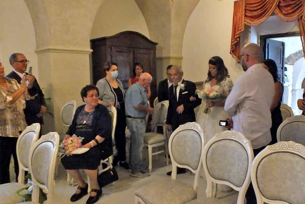 Rito civile matrimonio Villa Elda