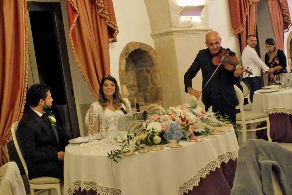 Violinista matrimonio Villa Elda Ugento