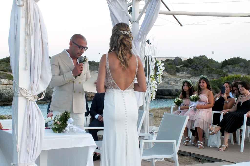 Rito civile matrimonio sul mare Ostuni